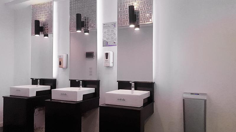 ห้องคลีนรูม อ่างล้างมือ